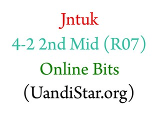 Jntuk 4-2 2nd Mid Online Bits
