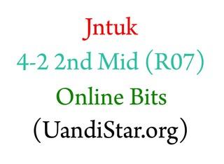 Jntuk 4-2 2nd Mid Online Bits