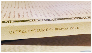 Marshall Warfield gets published in Clover Volume 9 Summer 2015