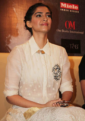 sonam at khalid mohammed book launch glamour  images