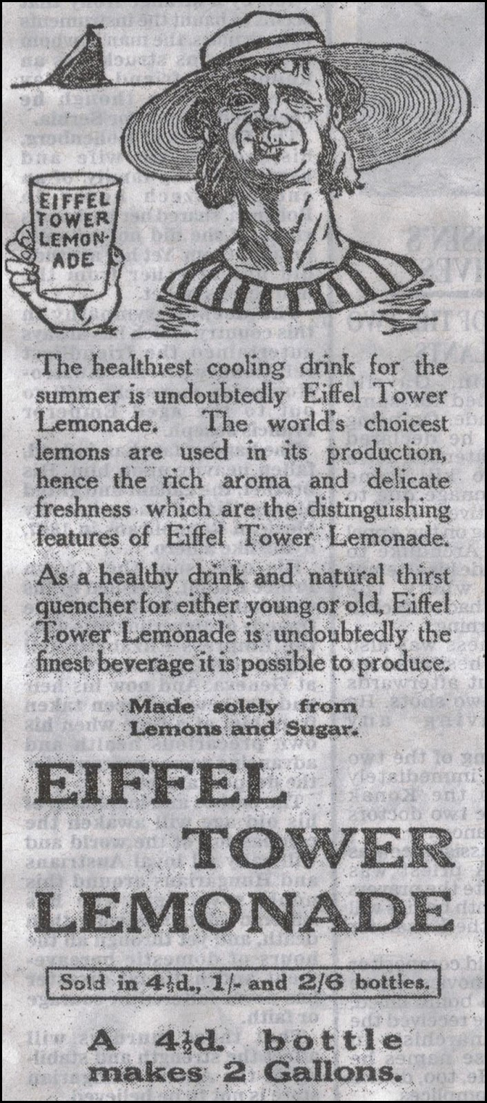 1914 advert for lemonade