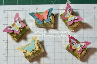 Candy treats decorated with Stampin'UP! butterfly punches