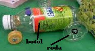 mobil mainan dari botol mineral