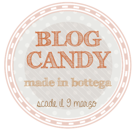 "partecipo al giveaway di "" MADE IN BOTTEGA"""