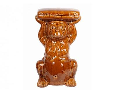 monkey garden stool