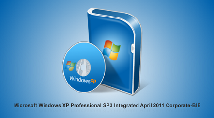 Capa Windows XP Professional SP3 Integrated Abril 2011