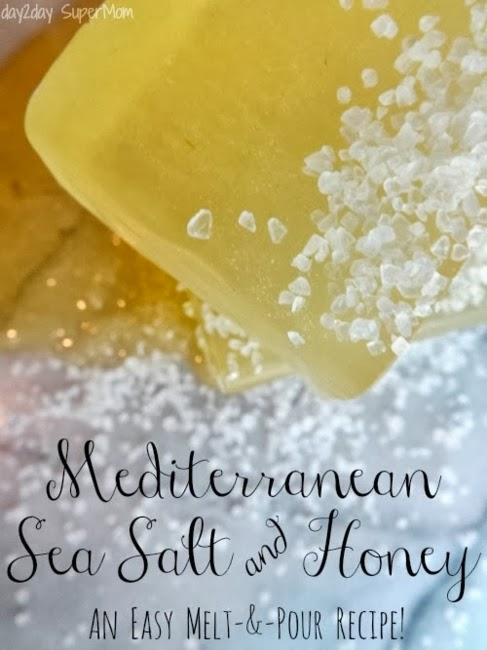 Honey and Mediterranean Sea Salt Soap #giftidea #Christmas #DIY #homemade