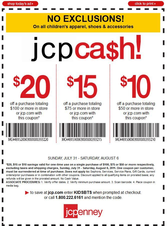 Jcpenney coupon code in store