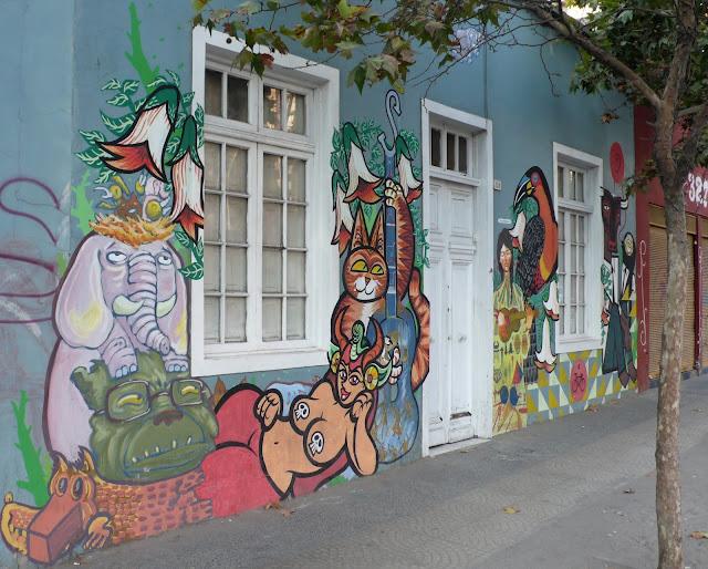 street art in santiago de chile santa isabel arte callejero