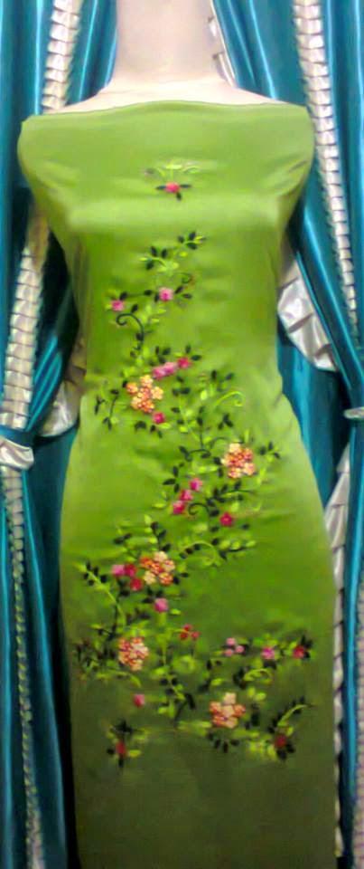 Sulaman Bahan Baju Kurung Gamis dan Jilbab