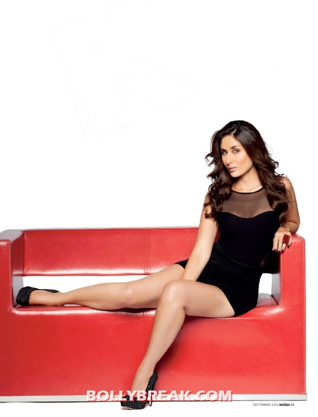 Kareena kapoor on sofa - hd photo - Kareena kapoor Maxim HQ Edited Pics