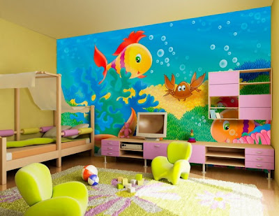 sea painting kids bedroom