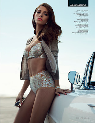 Ashley Greene is retro glam for the December cover story of GQ UK