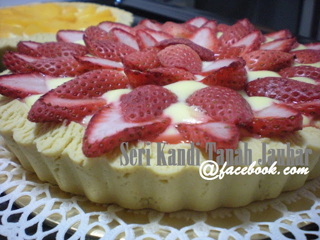STRAWBERRY & PEACH GIANT CHEESE TART