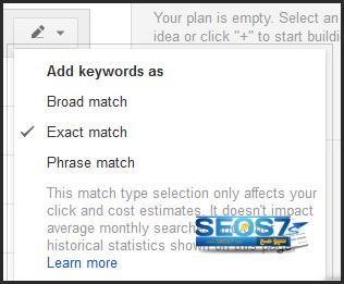 شرح أداة Keywords planner الجديدة من جوجل