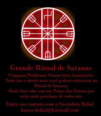 Ritual de Satanás no templo de Belial
