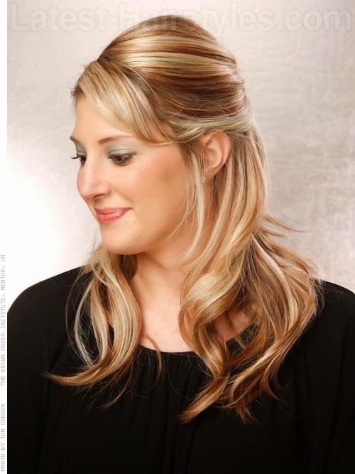 Peinados Con Ondas Semirecogido - Más de 1000 ideas sobre Semi Recogido en Pinterest Trenzas