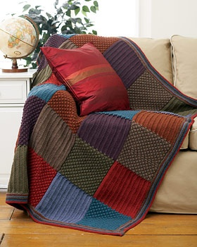 1664 como hacer una muestra tejida kal manta 1 - Mantas de punto hechas a mano ...