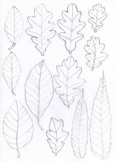 Fall Leaf Template Cut Out http://bugsandfishes.blogspot.com/2012_10_01_archive.html