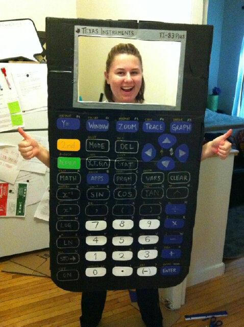 This DIY calculator is legit. Via Pinterest  sc 1 st  The Center of Math Blog & The Center of Math Blog: Seven Math-Inspired Halloween Costumes