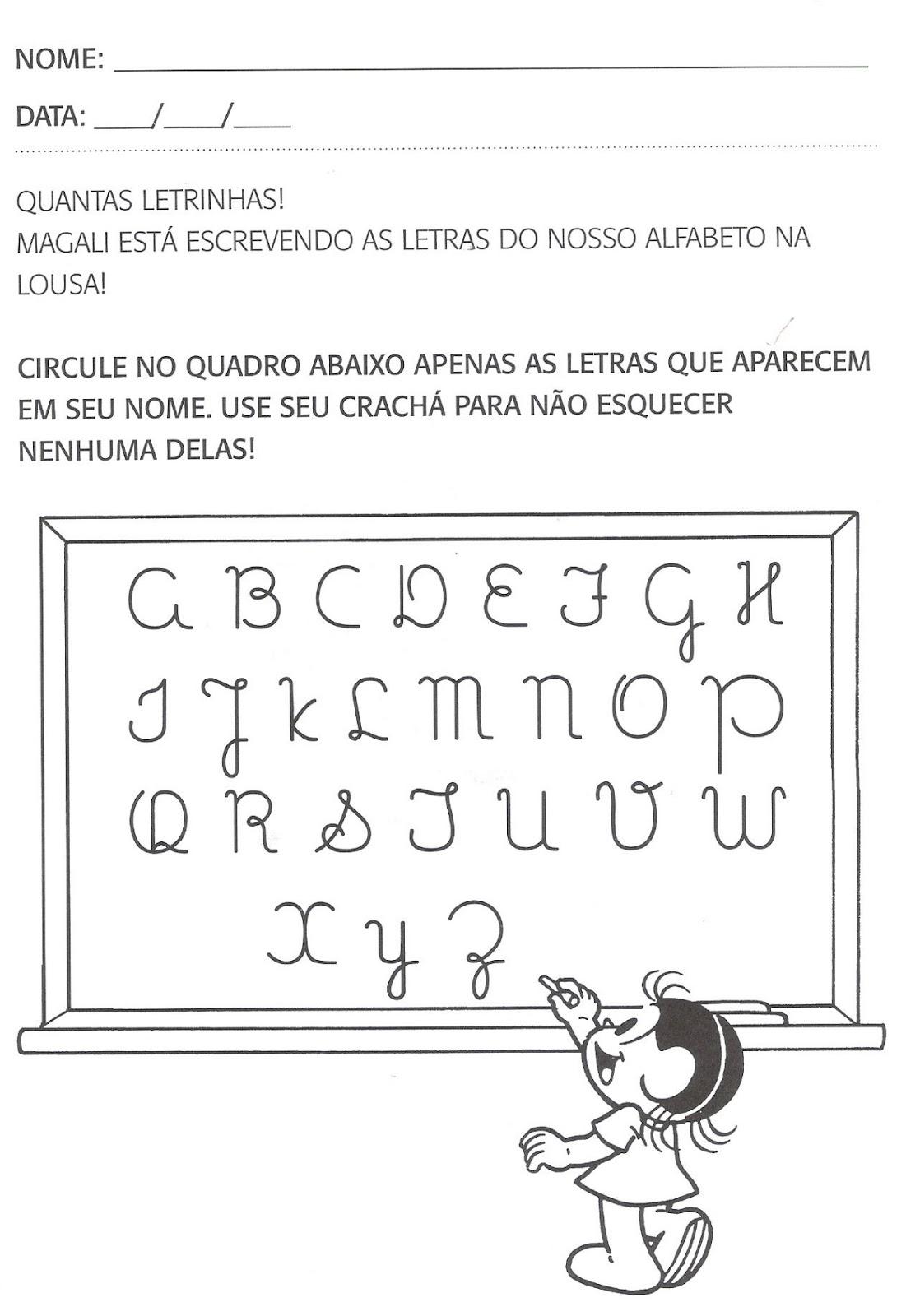 Conhecido Atividades de português para segundo período, educação infantil  WS13