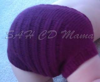 Tush shot of Tina from September wool soaker