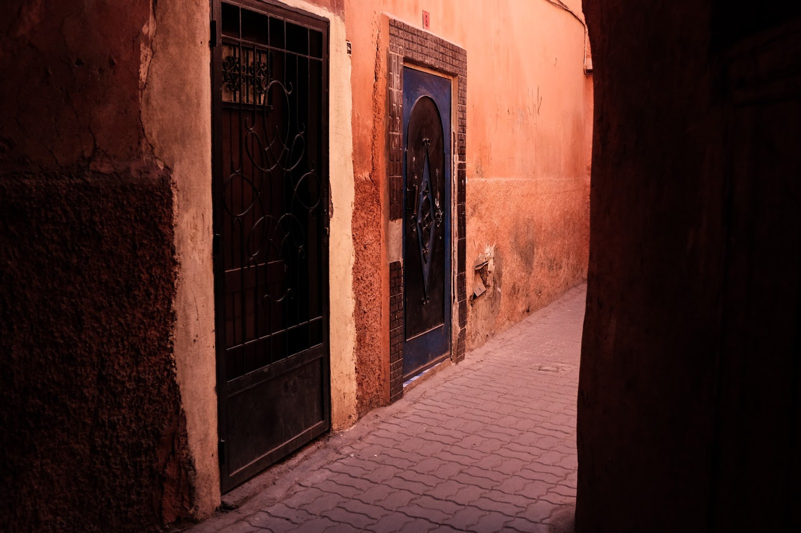 Old Medina alley way Marrakech Morocco