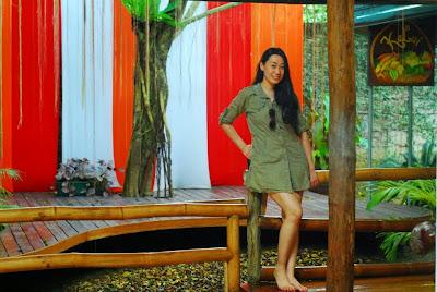 Trisha Sebastian in Kalui Restaurant, Puerto Princesa, Palawan.