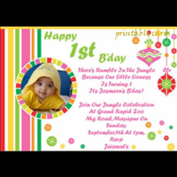 1St Birthday Invitation Wording In English for amazing invitation layout