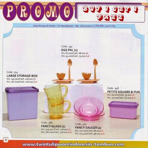 Promo Buy 1 Get 1 Free Tulipware | Mei - Juni 2014