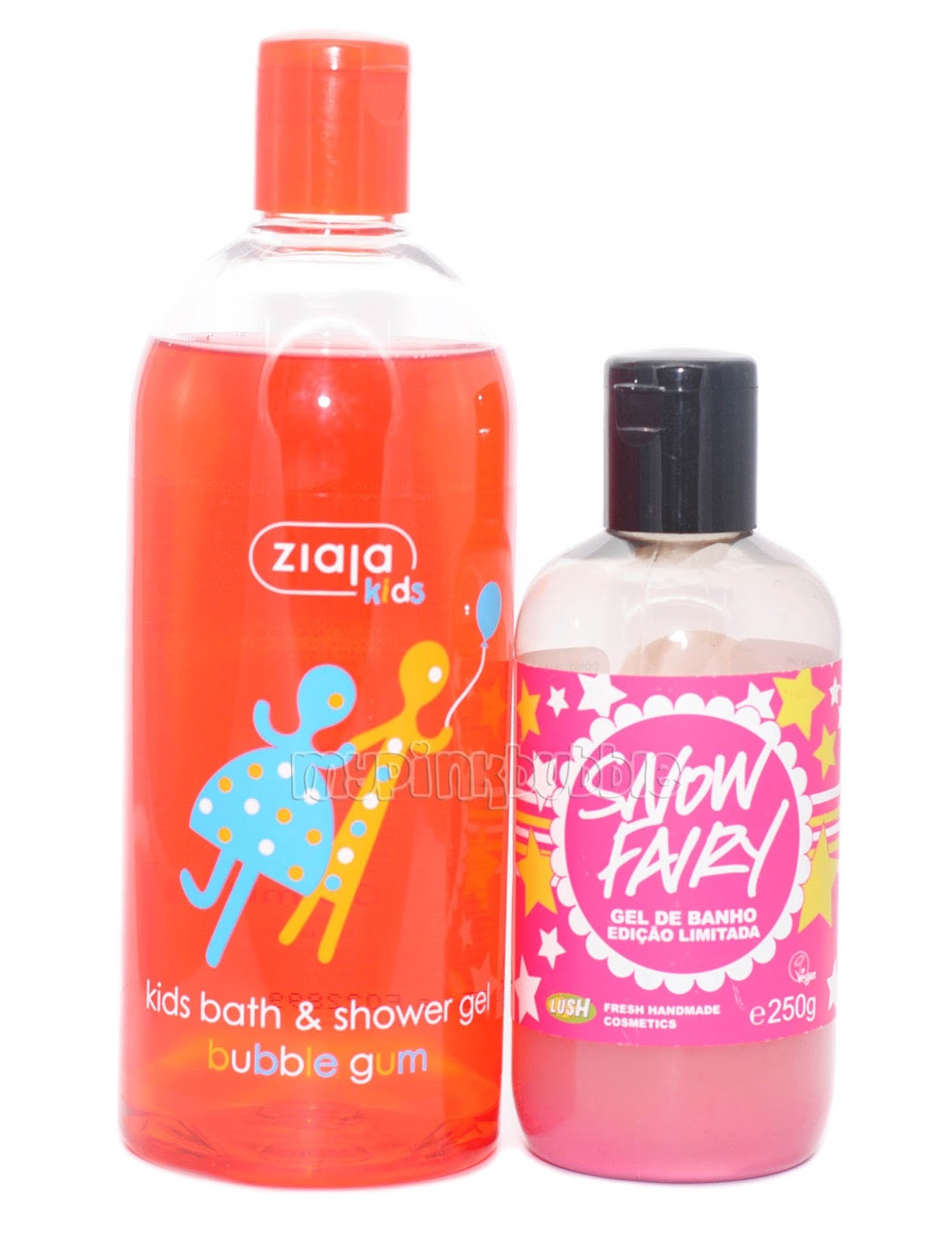 gel chicle Ziaja vs snow fairy lush