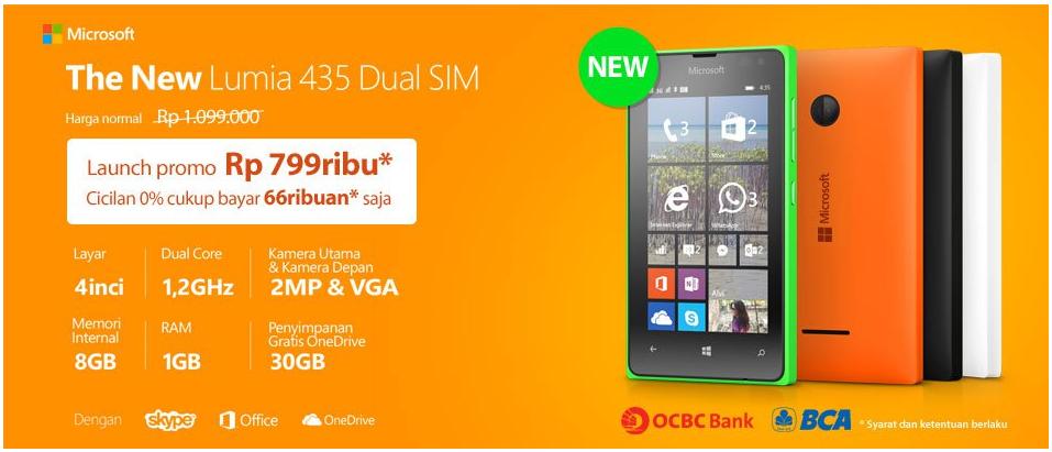 Promo Microsoft Lumia 435 Bhinneka