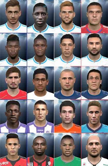 PES 2016 Ligue 1 big facepack by everest9