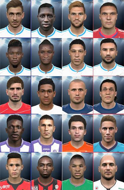PES 2016 Ligue 1 big facepack by everest9