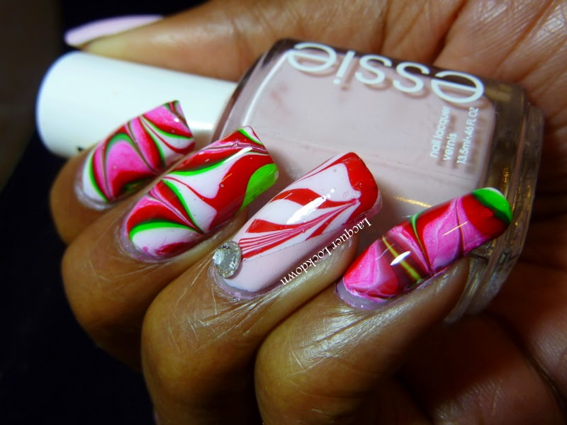 Lacquer Lockdown Christmas 2014 Candy Canes And Christmas Trees