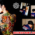 BODY PAINTING KOI FISH LADY YAKUZA