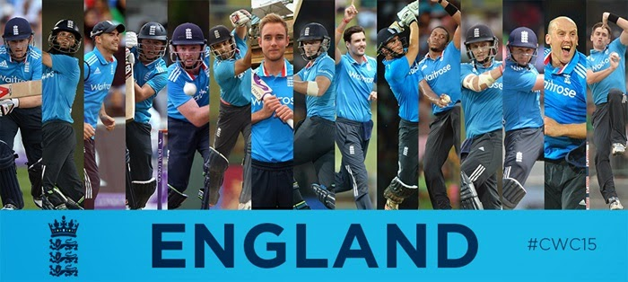 England Cricket Team at World Cup 2015