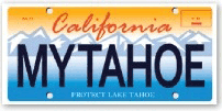 Buy a specialty Tahoe license plate and get 2 free lift tickets