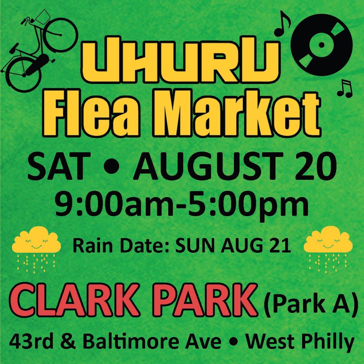 Uhuru Flea Market<br>SAT AUGUST 20th