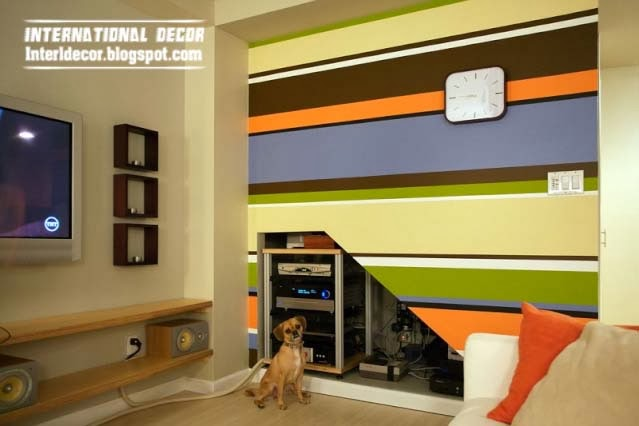 How to paint stripes on wall, 20 ideas and designs