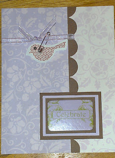 Purple card with bird detail