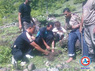 Camat Wera Pimpin Tanam 1.000 Bibit Pohon