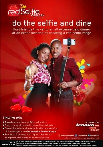 Lonovo Do the selfie Promo. Win an exotic dinner in a five star hotel