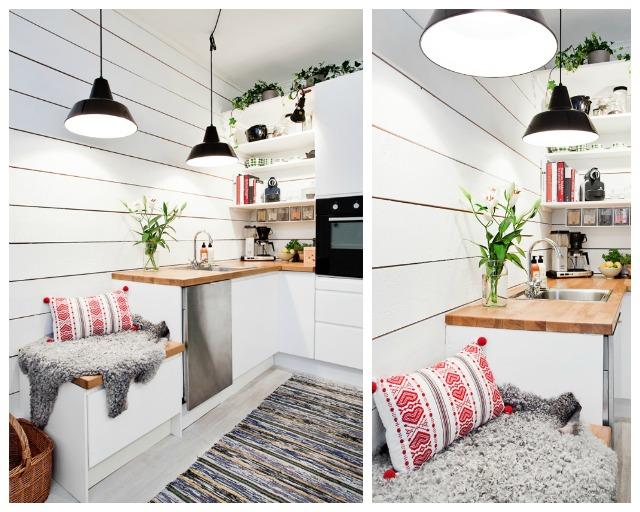 cocinas con espacios multifuncionales