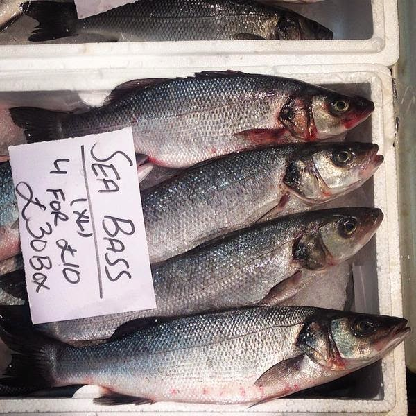 Billingsgate Market sea bass