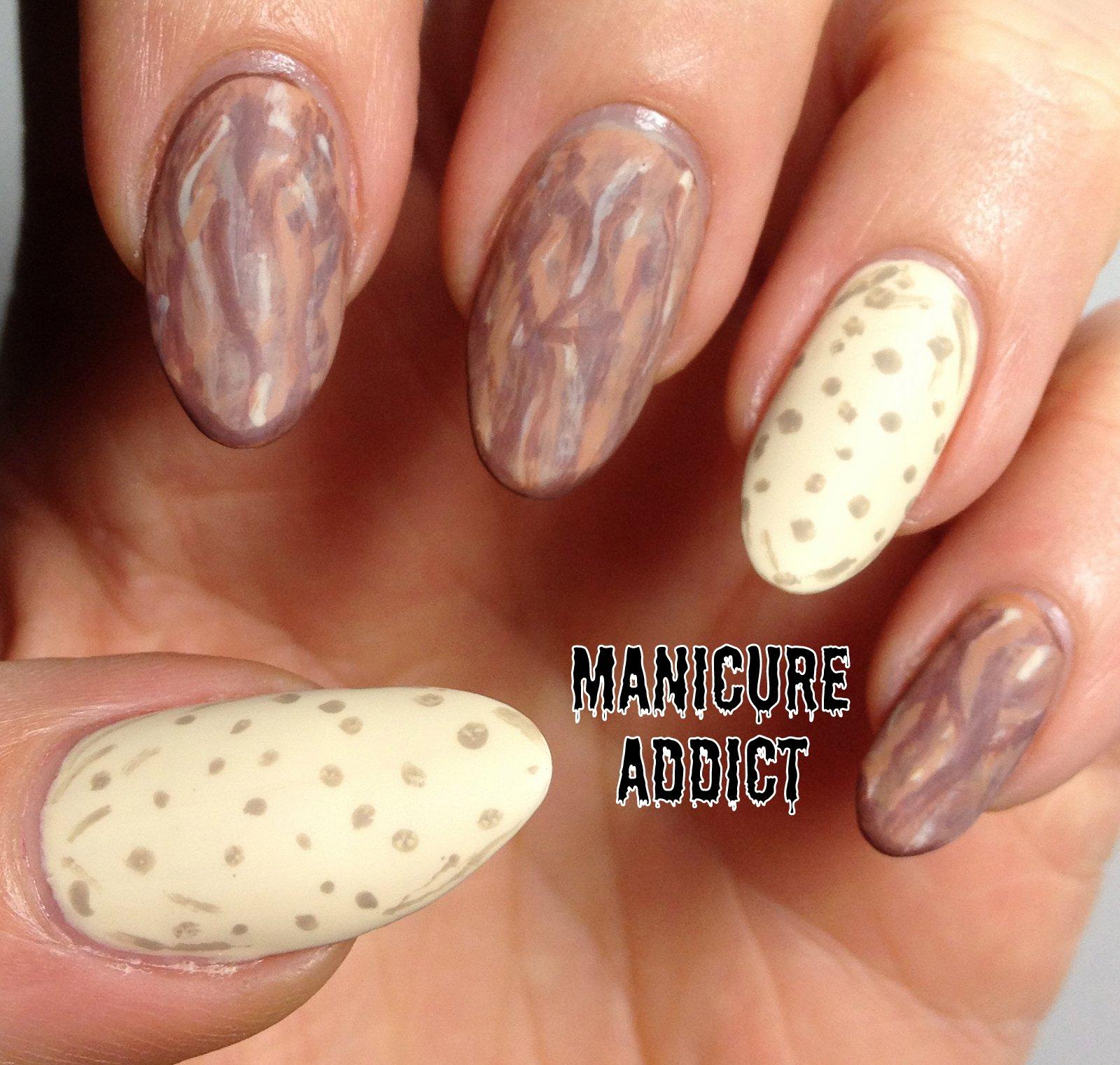 Manicure Addict: Almond Nail Art