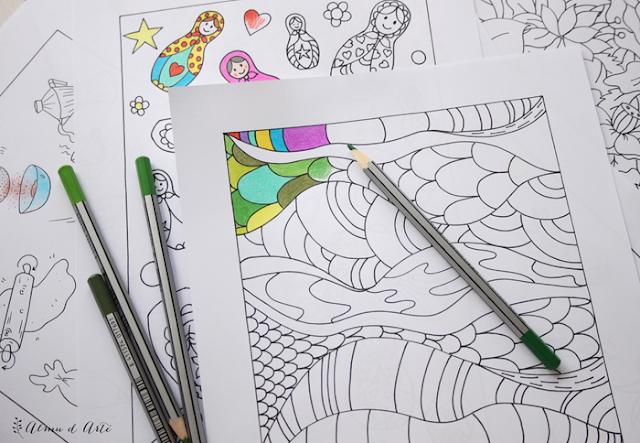 7 dibujos antiestrés para colorear