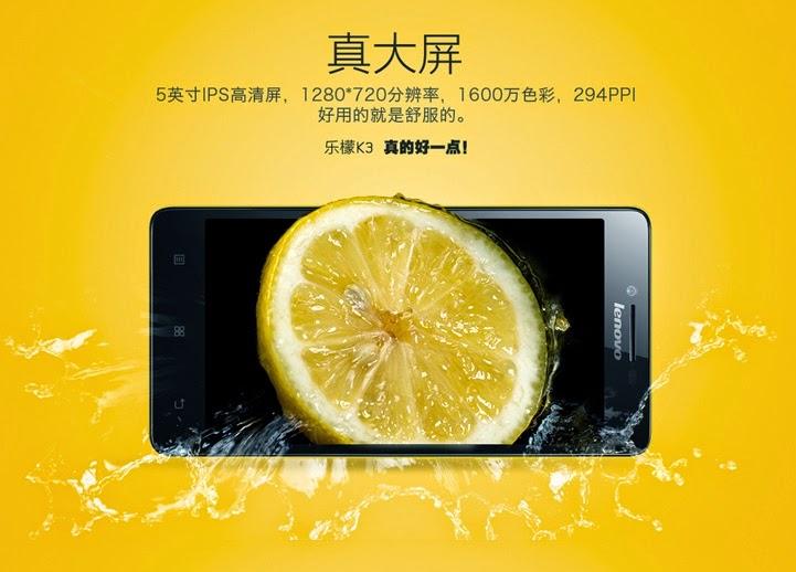 Lenovo K3 Music Lemon, Harga dan Spesifikasi Smartphone 1 Jutaan