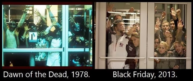 Dawn of the Dead, Black Friday, Thanksgiving, 2013