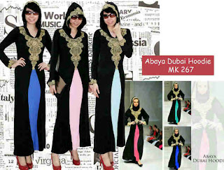 Abaya Dubai Hoodie fit to L